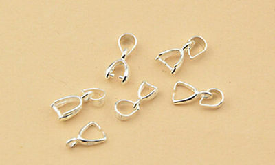 4Size 10PCS Hot Findings Bale Pinch Clasp Pendant New Useful Bail Connector