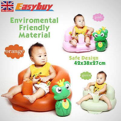 Inflatable Toddlers Sit Me Up Stool Training Seat Baby Sofa Dining Bath Chair