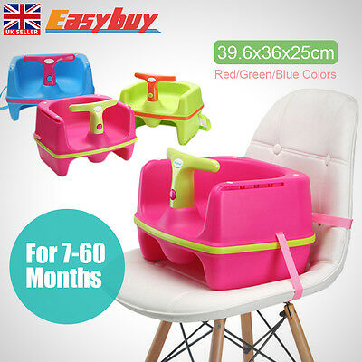 Adjustable Booster Portable Baby Toddler Highchair Feeding Seat For 6 months +