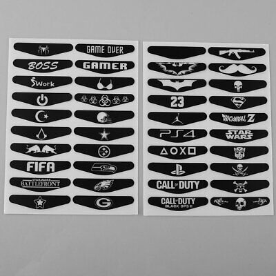 40pcs Sticker For PS4 PlayStation 4 Controller Led Decal LightBar Skin Stickers
