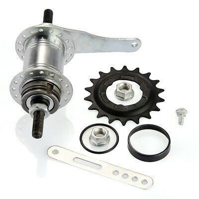 Fixed Gear Bicycle Coaster Brake Rear Hub Stainless Steel Speed Silver 32 Holes