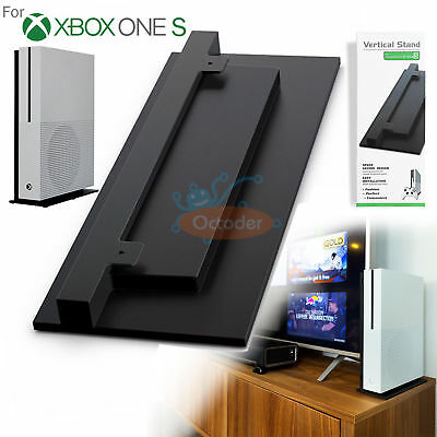 Vertical Stand For Microsoft Xbox One S (Slim) Console Black Space Saving