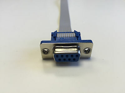 Serial Port DB9 Ribbon Cable Female to Male Ends