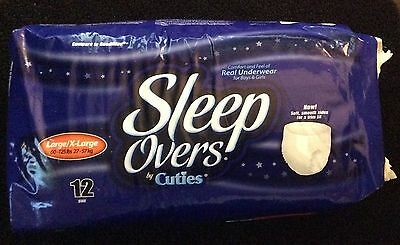 Cuties Sleep Overs Pull-ups 12 Pack Youth Disposable Diapers Large/XL 60-125 lbs