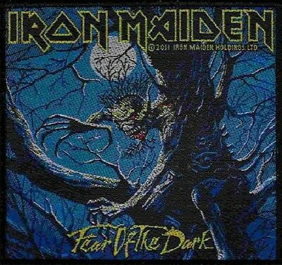 IRON MAIDEN Fear Of The Dark Woven Sew On Patch Rock Official Merchandise