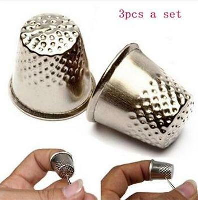 3pcs Needle Grip Pin Shield Sewing Protector Thimble Finger Metal Finger