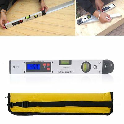 0~225° LCD Digital Angle Gauge Protractor Inclinometer Gage Spirit Level Meter