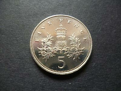 1984 Uncirculated Five Pence Piece. The 1984 5P Coin Was Only Issued For Sets.
