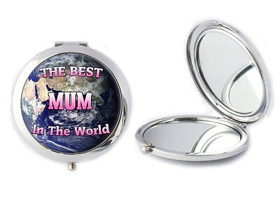 The Best Mum In The World Compact Mirror Ladies Birthday Mothers Day Gift T11