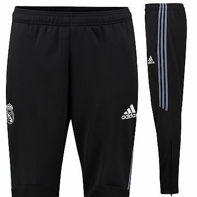 Adult Small Real Madrid Training Presentation Pants Black 'BCZ' Embroidery EB120