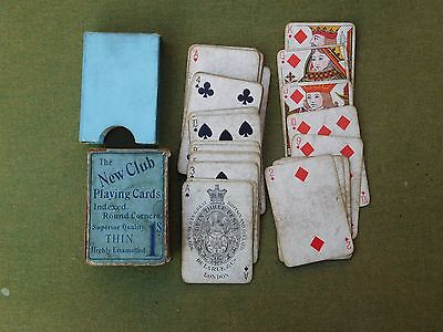 De La RUE ANTIQUE BOXED PLAYING CARDS  c1890s 52/52 IN ORIGINAL NEW CLUB BOX