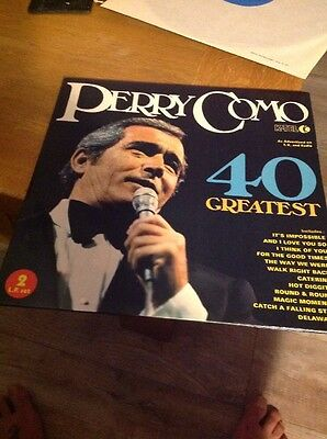 Perry Como 40 Greatest Hits 1975 Double Vinyl Lp Ex/ex