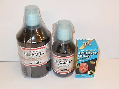 eSHa HEXAMITA Discus Treatment. Aquarium Fish. 20ml, 180ml & 500ml sizes.