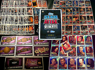 Topps Slam Attax RUMBLE Sets+Karten WWE Wrestling Trading Card Champion