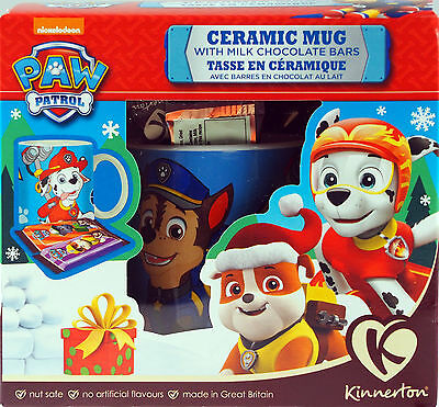 Paw Patrol Christmas Mug Gift Set - Ceramic Cup / Chocolate Treats