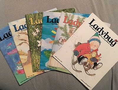 Ladybug The Magazine For Young Children, Lot Of 6, 1991 Series