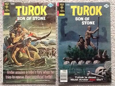 Turok Son of Stone #101 and 111 1976/77 Gold Key VG