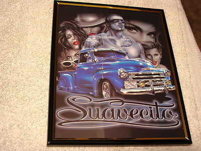 CHEVROLET TRUCK AND LADIES AND MAN SUAVECITO 8X10 FRAMED PICTURE ( poster )