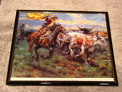 COWBOYS 8X10 FRAMED PICTURE ( poster )