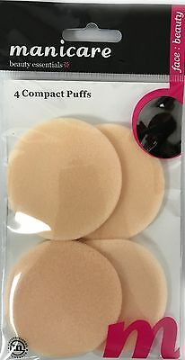 4X Compact Puffs Manicare Make Up Sponge Powder Cream Foundation Pad