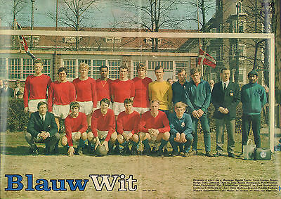 Poster Blauw Wit Amsterdam 1970 (Comes From Dutch Comic Magazine Pep)