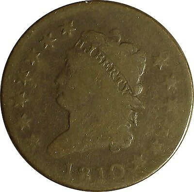 1810 Classic Head Large Cent  ** Normal Date  S-284   R-3 **  (item #17 LU)
