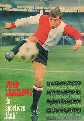 Poster Theo Laseroms / Feyenoord 1968 (Comes From Dutch Comic Magazine Pep)