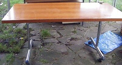 Ex Office Conference Table / Chestnut Colour/ Metal Legs /  (Used)