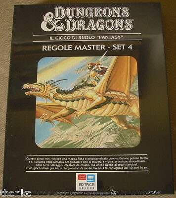 D&d - Tsr - Set 4 Regole Master - Ed. It. - Nuovo Cellophanato -Dungeons&dragons