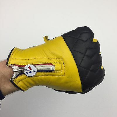 Vintage Moncler Leather Racing Gloves Women's 7 1/2