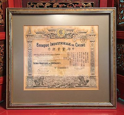 Banque Industrielle De Chine - Vintage Bank Note