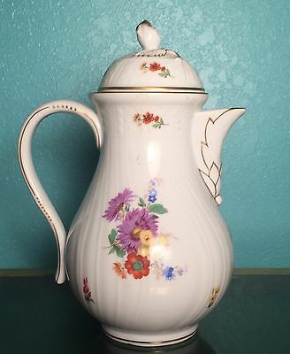 Hutschenreuther Dresden Coffee Pot - Fine Porcelain - Bavarian Made - Rare