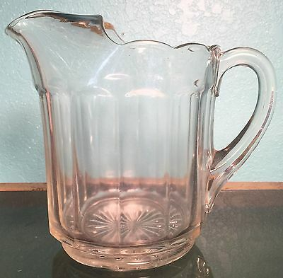 Antique Glass Milk Pitcher