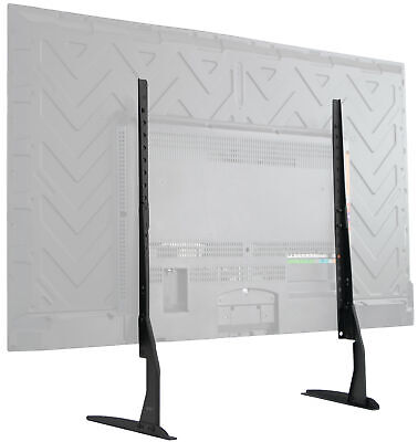 """VIVO Universal LCD Flat Screen TV Table Top Stand   Base fits 37"""" to 65"""" T.V."""