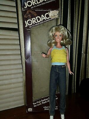 Jordache Blonde with Jeans 11 1/2 inch High Fashion Doll Mego 1981* In Box
