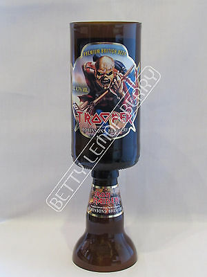 Iron Maiden Trooper Beer / Ale Chalice Glass Goblet -100% Recycled- Unique Gift!