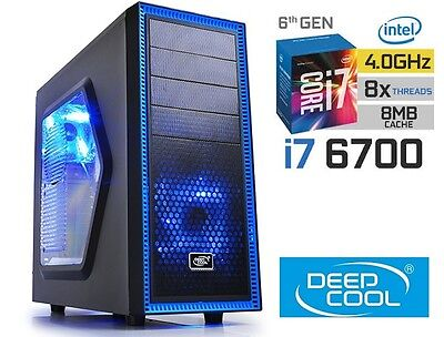 INTEL Core i7 6700 4.0GHz GAMING COMPUTER 1TB HDD 16GB RAM HDMI Desktop PC