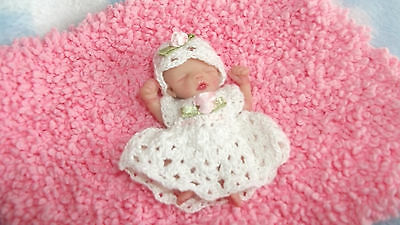 Ooak Full Sculpt Beautiful Sleeping Baby Girl Laura 2.5'' resale