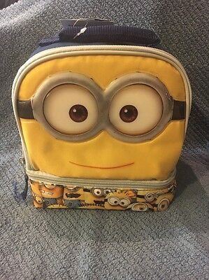 Despicable Me Minion Soft Lunch Bag with 2 Compartments - MWT
