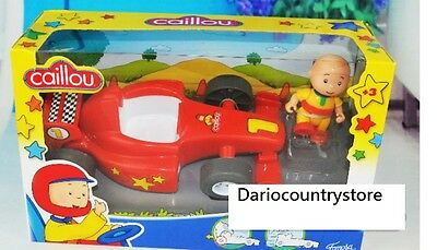Caillou Red Race Car Set Figure in Box