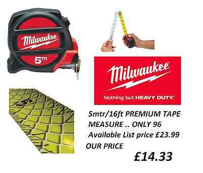 Milwaukee Premium 5M/16Ft Tape Measure 48225217 Metric Imperial Architect