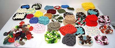 Granny Squares crochet Huge lot of 80 larger squares and 57 smaller squares
