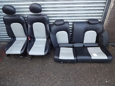 2001-2007 Mercedes C class 2 door coupe W203 white / black leather seats