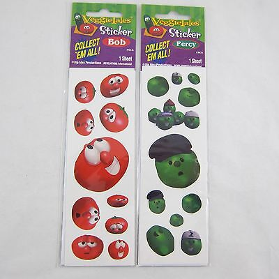 Veggie Tales Stickers Percy the Pea and Bob the Tomato NEW
