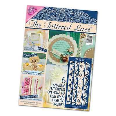 Tattered Lace Magazine Issue 17 Stephanie Weightman Free Spring Lace Die