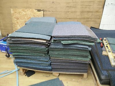APPROX 500 LIGHTLY USED CARPET FLOOR TILES 500x500 mm 50x50 cm MIXED CLEARANCE