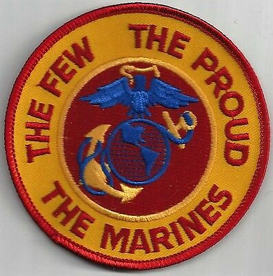 Usmc Tribute Patch     'The Few  The Proud  The Marines'                  Color
