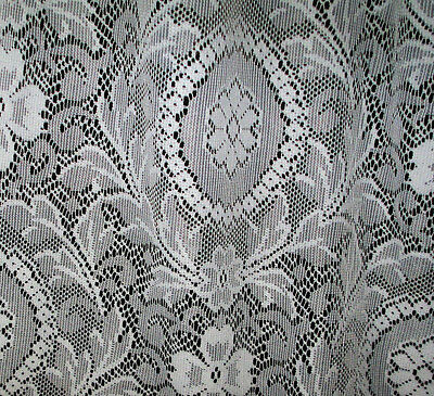 """Vintage-Curtains-Bobbin Apenzil Lace Florall (2) Curtains 78 x 56""""  Stunning!"""