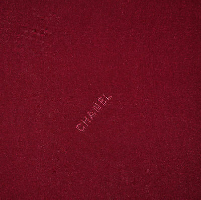 Authentic 100% pure silk twill fabric, French designer with logo Price for 1 m.