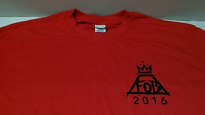 FALL OUT BOY, red FOB 2016 Local Crew / tour shirt, Unused NEW